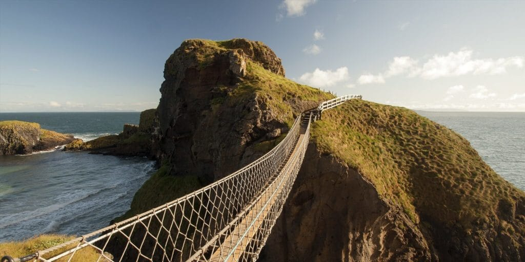 Carrick areed rope bridge