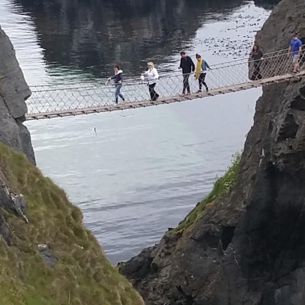The Carrick A reed rope bridge.