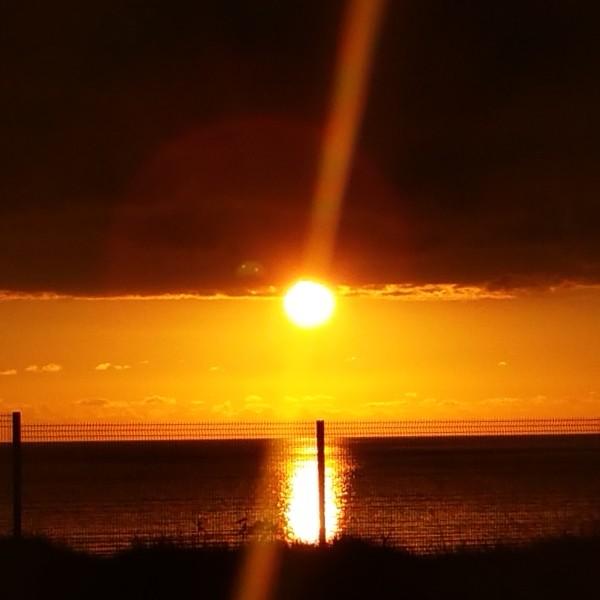 Sunrise on the Irish Sea.